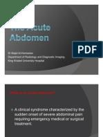 What is an Acute Abdomen
