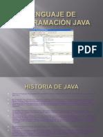 Lenguaje de programación java VALERIA REYES