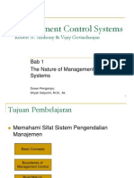Bab 1 the Nature of Management Control Systems