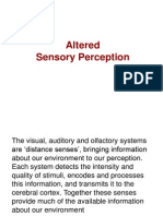 Concept of Sensory Alteration