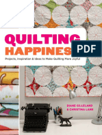 The Haphazard Chevron Pillow From Quiting Happiness by Diane Gilleland and Christina Lane