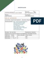 Plan de Area Matematicas 2013