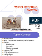 Four-Wheel Steering Repor Ppt