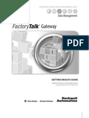 FactoryTalk Gateway | Gateway (Telecommunications) | Server