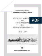 Repertoire Numerique Des Series