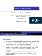 The Shallow Water Equations Derivation Procedure
