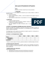 Formato Básico para la Presentación de Proyectos