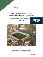 Pliego Condiciones Tecnicas-Urbanizacion Exteriores Campo Cerru 1a Fase