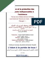L'Islam et la protection des éléments indispensables à l'existence