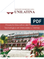 Proyecto Educativo Del Programa Mercadeo y Ventas