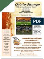 September 1 Newsletter