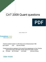 CAT Quant23