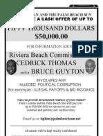 Palm Beach Sun $50,000 Corruption Reward 2
