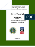 Handbook on Coordinating NEPA and Section 106