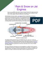 Effect of Rain & Snow on Jet Engines