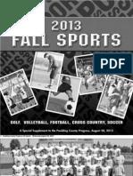 Fall Sports 2013