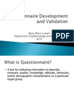 Questionnaire Validation