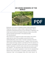 Borobudur Seven Wonders of the World Borobudur is The