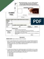Examen Final Ingenieria Economica 2013-2 Tipo d