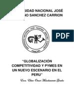 GLOBALIZACIÓN COMPETITIVIDAD Y PYMES EN UN NUEVO ESCENARIO EN EL PERÚ