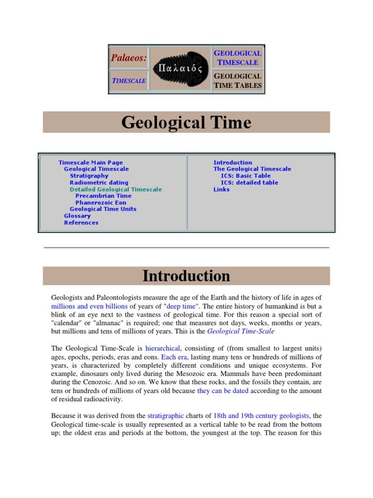 Stratigraphic radiometric dating