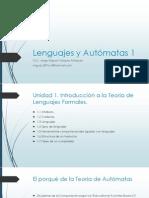 Lenguajes y Autómatas 1 Unidad 1