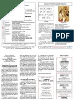 Foglietto domenicale n 34 del 25 agosto 2013