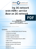 Planning 3G Netwrok With HSPA+ Service Base on 2G Network