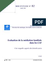 Dossier 82 - Evaluation Mediation Familiale