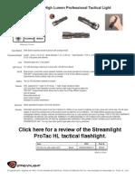 Streamlight ProTac HL Data Sheet