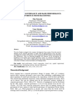 Corporate Governance and Bank Performance - Evidence From Macedonia (working paper)