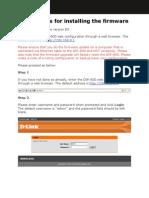 DIR-600 HW B5 Firmware Install Guide