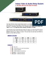 High-Def Video Audio Delay System
