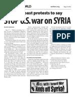 Stop U.S. War on Syria