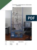 Equipo de Destilacion Del Laboratorio de Operaciones Unitarias