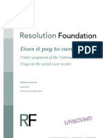 Does it pay to care? Under-payment of the National Minimum Wage in the social care sector