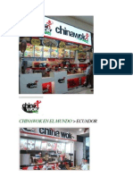 CHINAWOK en EL MUNDO Franquisia Peruana