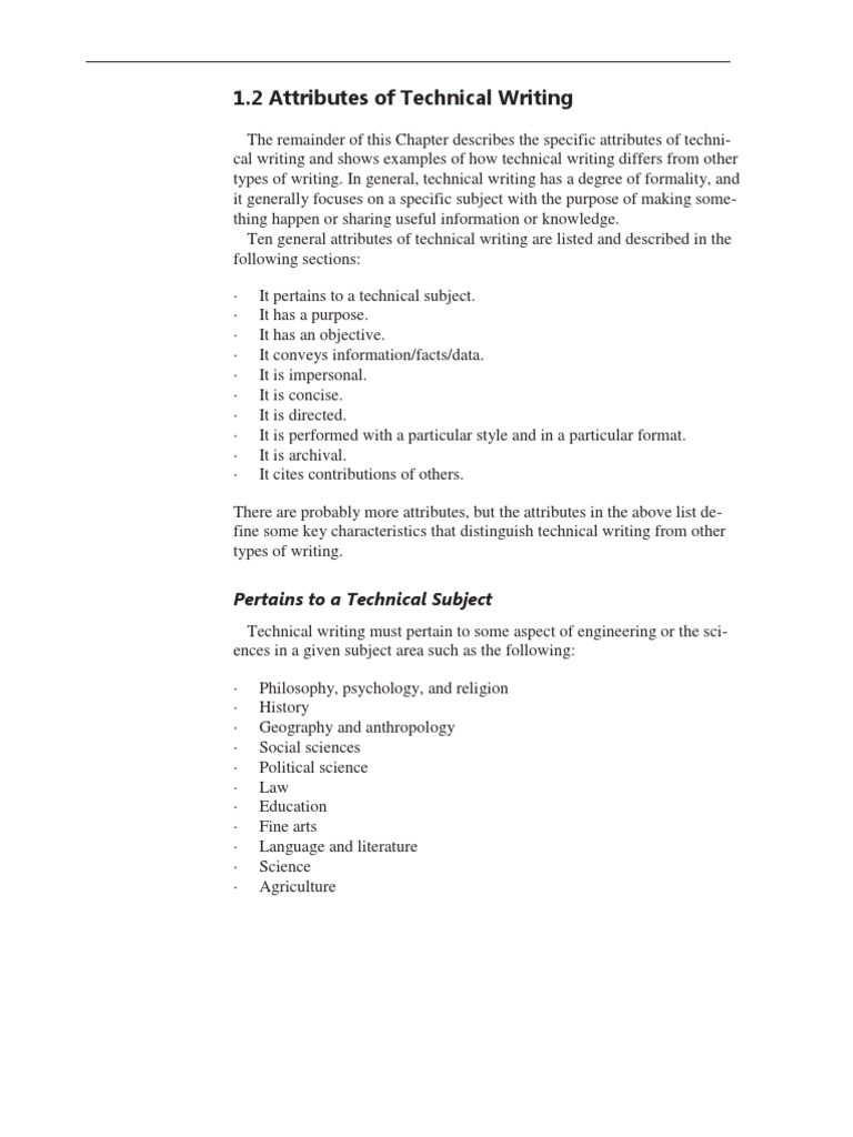 Attributes Of Technical Writing Scanning Electron Microscope Science