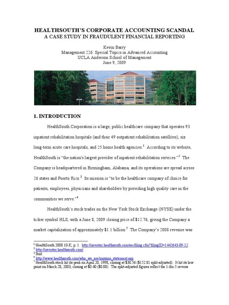 Accounting fraud at healthsouth companies government health care xflitez Image collections