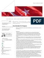 01 Visa Information for Foreigners _ Rep. of Turkey Ministry of Foreign Affairs