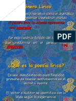 Clase Generos Literarios g Lirico