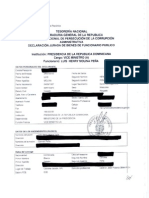 Declaración Jurada Viceministro Lic. Luis H. Molina