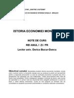Istoria Economiei Mondiale-note de Curs