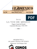 LA VOZ DE MÉXICO. Órgano Central del Partido Comunista Mexicano, 1938-1974