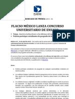 Concurso Ensayo Flacso 2013