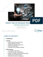 Annuity and Life Insurance Product Update - Q2 2013