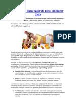 Alimentos Para Bajar de Peso Sin Hacer Dieta