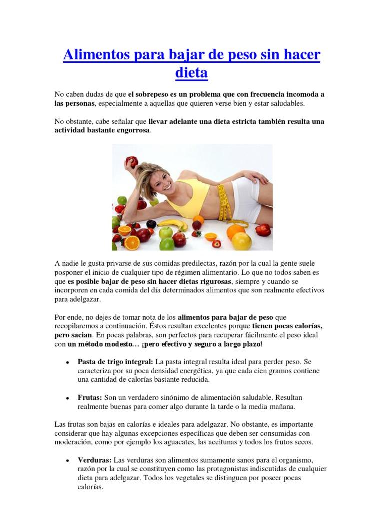 dieta para comer para bajar de peso