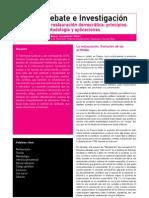 La restauración democrática. Principios, metodología y aplicaciones