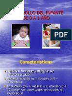 DESARROLLO DEL INFANTE DE 0 A 1 AÑO